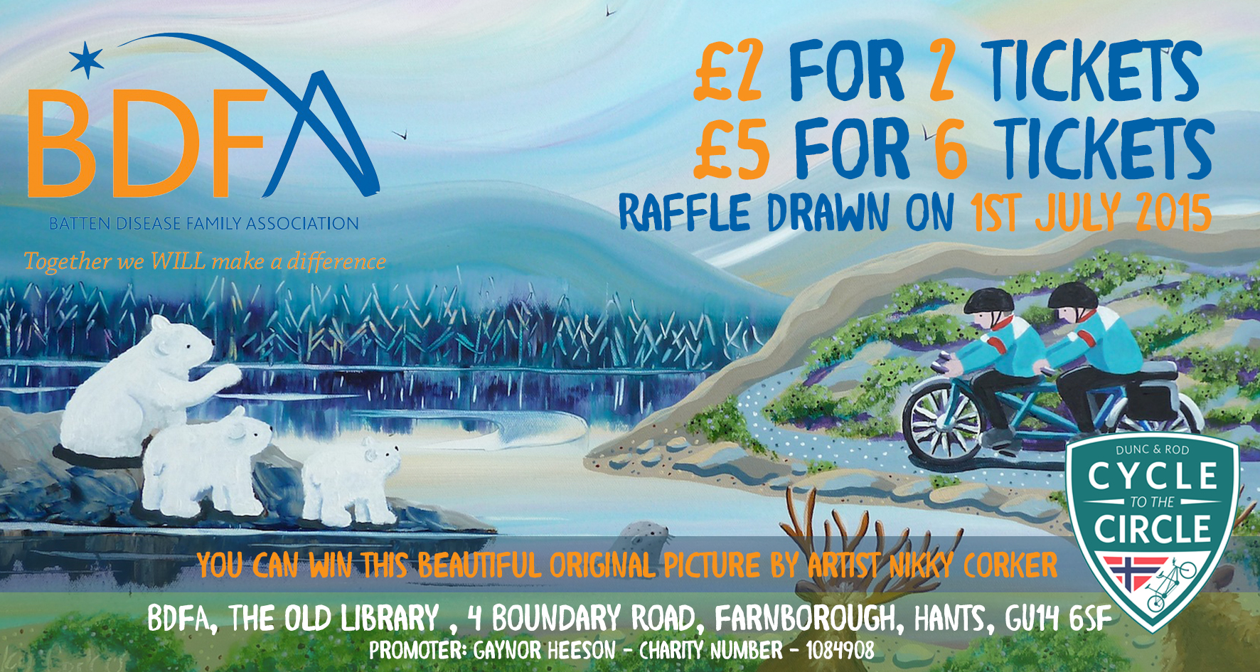 Raffle Draw – Limited Edition Painting from Nikky Corker