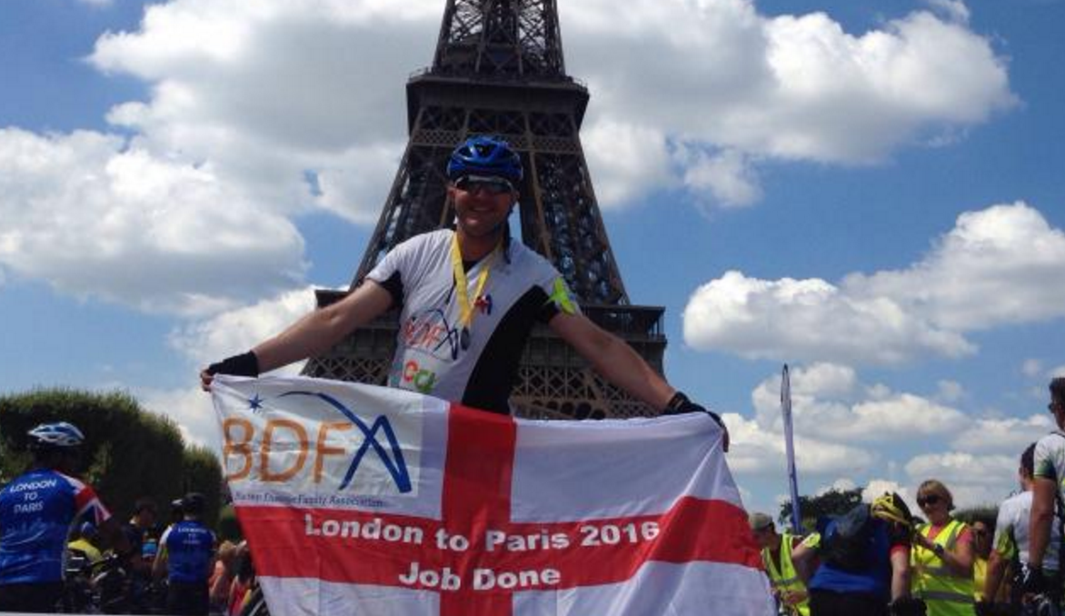 Francis Mills Completes 297 Mile Ride From London To Paris
