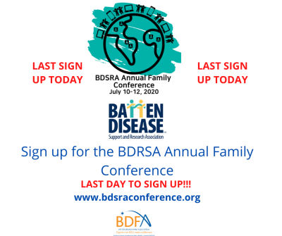 LAST CALL TO SIGN UP!! TODAY BDSRA Online Conference July 10TH- 12TH 2020