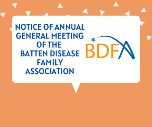 Notice Of Annual General Meeting Of The Batten Disease Family Association 2020