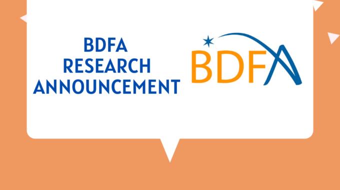 BDFA RESEARCH ANNOUNCEMENT