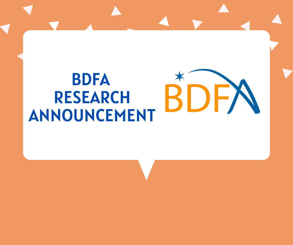 BDFA RESEARCH ANNOUNCEMENT